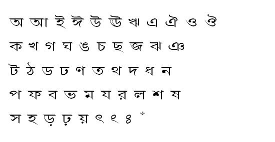 BorakOMJ Bangla Font