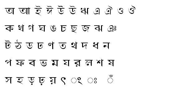 Mukto Bangla Font