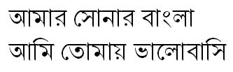 Nikosh Light Ban Bangla Font