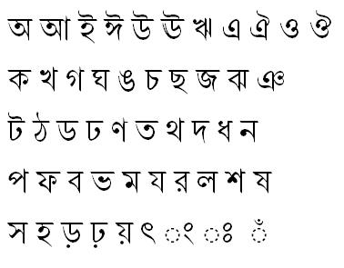 Shonar Bangla Bangla Font