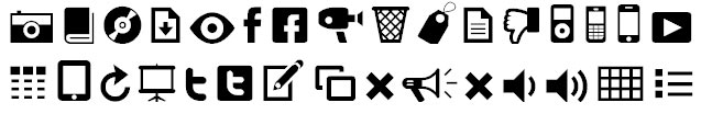 Modern Pictograms Bangla Font