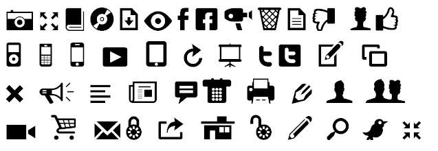 Modern Pictograms Bangla Font