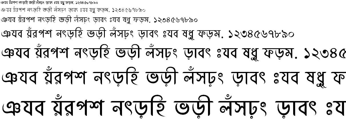 Abirvab Bangla Font