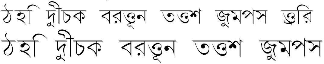 Progoty Bangla Font