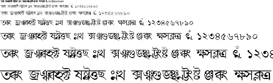 BN-TT-Bidisha Bangla Font