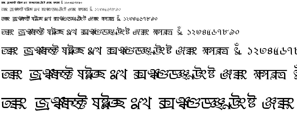 BN-TT-Debashish Bangla Font