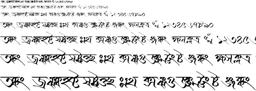 BN-TT-Kailash Bangla Font