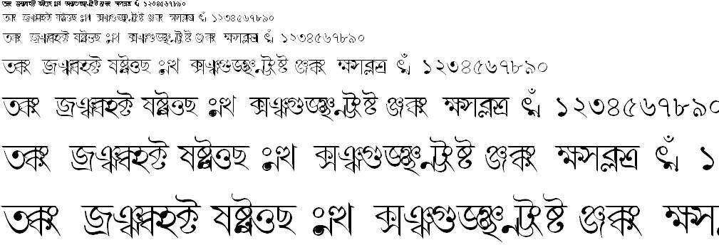 BN-TT-Sattyajit Bangla Font