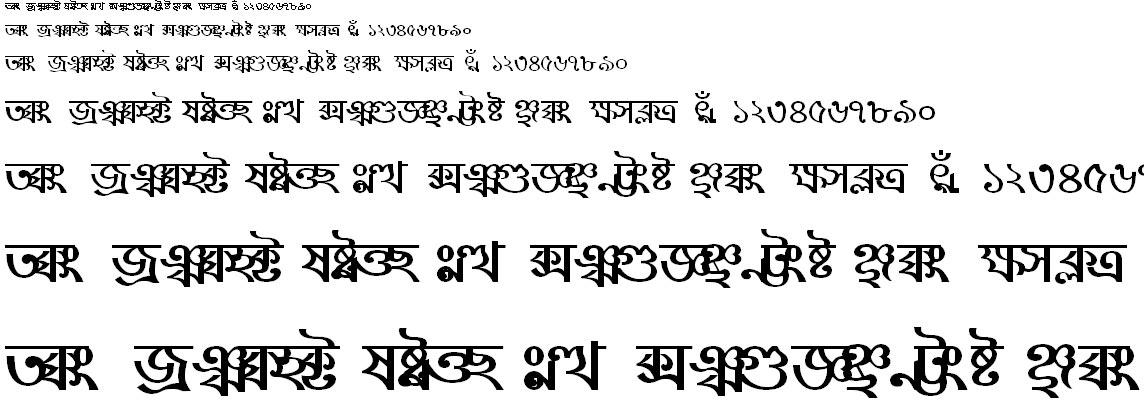 BN-TT-Sushmita Bangla Font