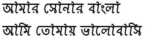 Ekushey Shimanto Bangla Font