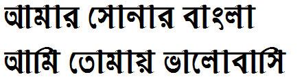 Vidyasagar Bangla Font